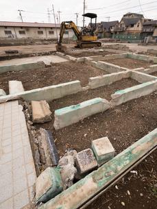 住宅街の再開発工事の写真素材 [FYI01184570]