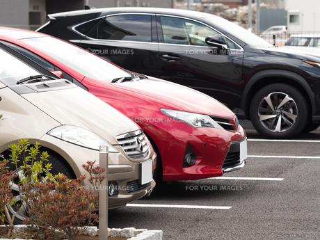 駐車場の写真素材 [FYI01184591]