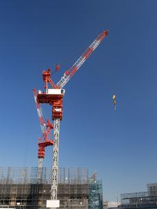 高層ビルの建設現場の写真素材 [FYI01185053]