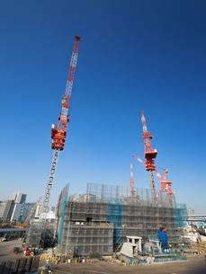 高層ビルの建設現場の写真素材 [FYI01185056]
