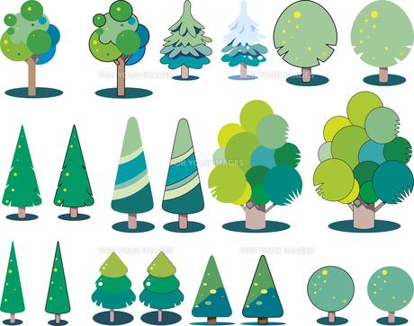 樹木のセット_02のイラスト素材 [FYI01185623]