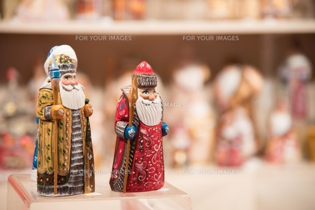 クリスマス サンタの置物の写真素材 [FYI01185667]