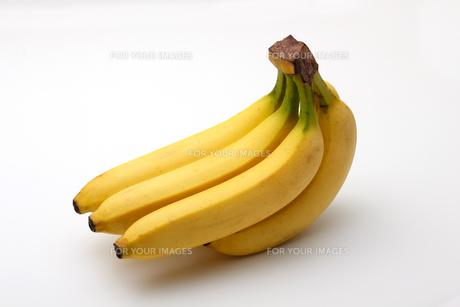 バナナ,白バックの写真素材 [FYI01185805]