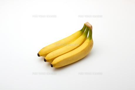 バナナ,白バックの写真素材 [FYI01185807]