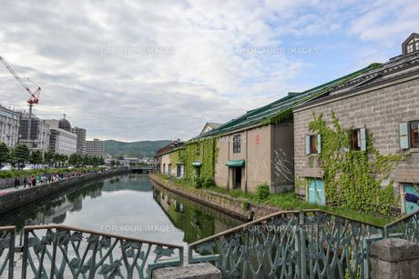 小樽の運河の写真素材 [FYI01185872]