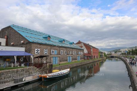 小樽の運河の写真素材 [FYI01185874]