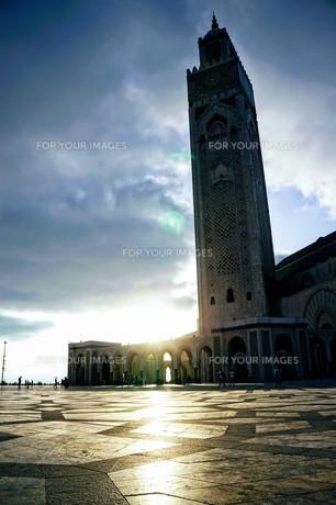 ハッサン2世モスクの写真素材 [FYI01186186]