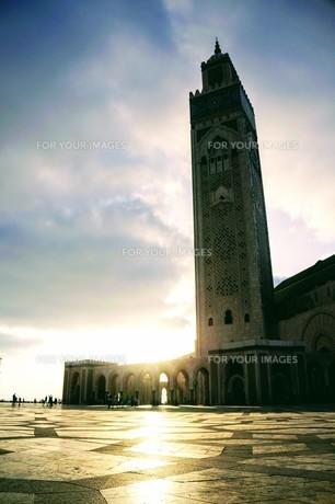 ハッサン2世モスクの写真素材 [FYI01186187]