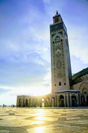 ハッサン2世モスクの写真素材 [FYI01186188]