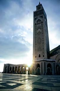 ハッサン2世モスクの写真素材 [FYI01186189]