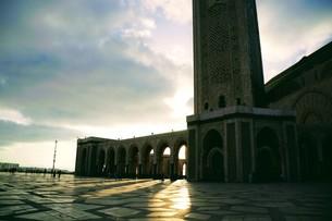 ハッサン2世モスクの写真素材 [FYI01186190]