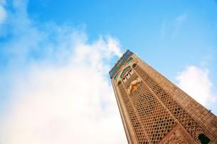 ハッサン2世モスクの写真素材 [FYI01186193]
