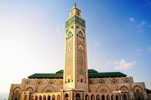ハッサン2世モスクの写真素材 [FYI01186201]