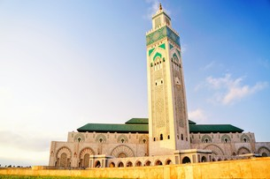ハッサン2世モスクの写真素材 [FYI01186204]