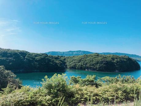 海と空と森の写真素材 [FYI01186942]