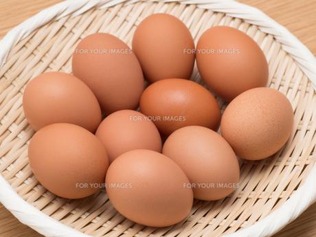 ザルに入れた卵の写真素材 [FYI01187000]