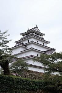 会津若松の町並み(会津鶴ヶ城)の写真素材 [FYI01187117]