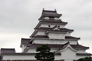 会津若松の町並み(会津鶴ヶ城)の写真素材 [FYI01187118]