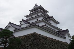 会津若松の町並み(会津鶴ヶ城)の写真素材 [FYI01187120]