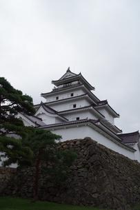 会津若松の町並み(会津鶴ヶ城)の写真素材 [FYI01187121]