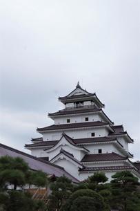 会津若松の町並み(会津鶴ヶ城)の写真素材 [FYI01187122]
