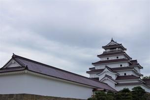 会津若松の町並み(会津鶴ヶ城)の写真素材 [FYI01187123]