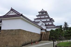 会津若松の町並み(会津鶴ヶ城)の写真素材 [FYI01187124]