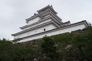会津若松の町並み(会津鶴ヶ城)の写真素材 [FYI01187127]