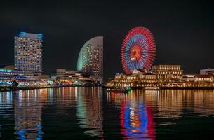 横浜みなとみらい夜景イルミネーションの写真素材 [FYI01187268]
