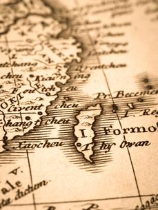 古い世界地図 中国と台湾の写真素材 [FYI01188126]