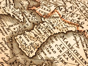 古い世界地図 朝鮮半島の写真素材 [FYI01188351]