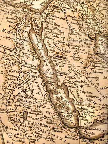 古い世界地図 紅海の写真素材 [FYI01188361]