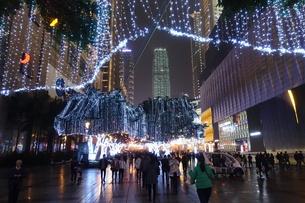 重慶市の商業地域の写真素材 [FYI01188608]