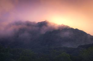 霧と山の写真素材 [FYI01188622]