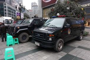 中国警察特殊部隊車輌の写真素材 [FYI01188912]