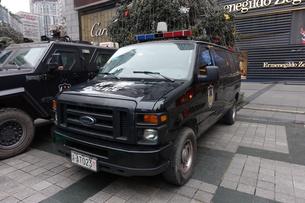 中国警察特殊部隊車輌の写真素材 [FYI01188922]