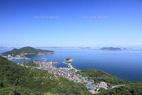 鞆の浦展望台からの風景の写真素材 [FYI01189277]