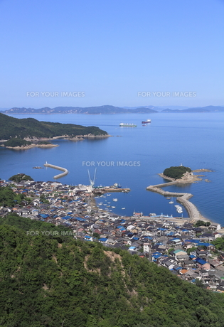鞆の浦展望台からの風景の写真素材 [FYI01189278]