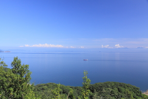 鞆の浦展望台からの風景の写真素材 [FYI01189279]