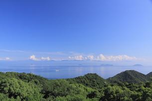 鞆の浦展望台からの風景の写真素材 [FYI01189280]