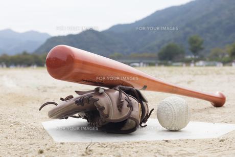 草野球イメージの写真素材 [FYI01189296]