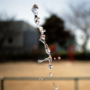 飛び出す水の写真素材 [FYI01189451]