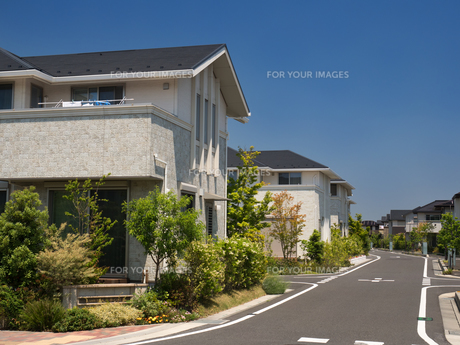 新興住宅街の写真素材 [FYI01189772]