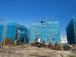 住宅建設現場の写真素材 [FYI01190047]