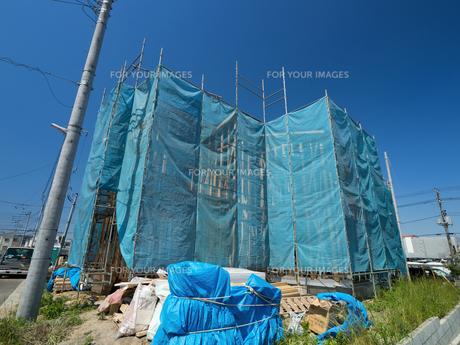住宅建設現場の写真素材 [FYI01190048]