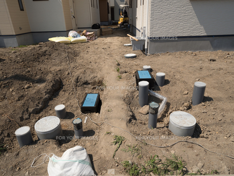 住宅建設現場の写真素材 [FYI01190049]