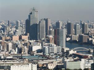 築地市場と隅田川の写真素材 [FYI01190103]