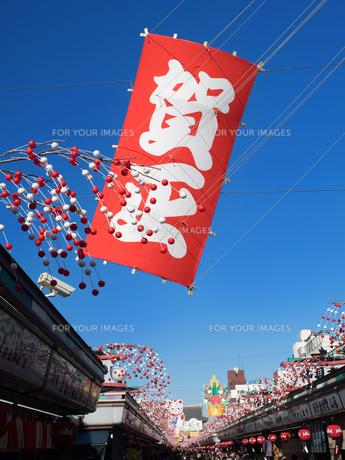 正月の浅草・仲見世通りの写真素材 [FYI01190128]