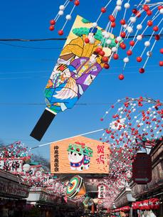 正月の浅草・仲見世通りの写真素材 [FYI01190131]