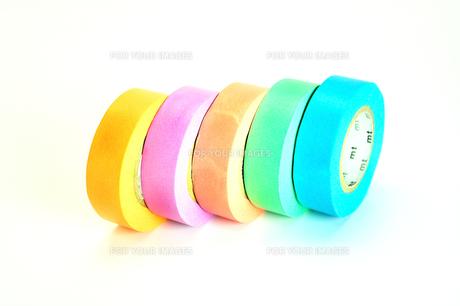 カラフルなマスキングテープの写真素材 [FYI01190139]